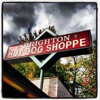 Photo taken at Brighton Hot Dog Shoppe by Joel D. on 10/12/2012