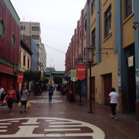 Photo taken at Calle Capón (Barrio Chino) by Diego G. on 3/6/2015