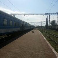 Photo taken at Станція «Цвіткове» by Dmitriy C. on 5/9/2015