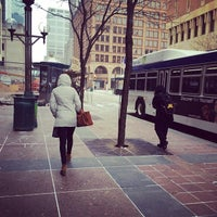 Photo taken at 4th and Nicollet Mall Bus Stop by David E. on 4/1/2014