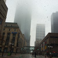 Photo taken at 4th and Nicollet Mall Bus Stop by David E. on 3/27/2014