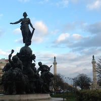 Photo taken at Place de la Nation by Gustavo C. on 11/28/2012
