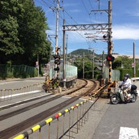 Photo taken at 水道路踏切 by Katsuhito A. on 7/20/2013