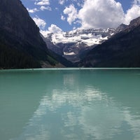 Photo taken at Lake Louise by Rodrigo C. on 7/24/2013