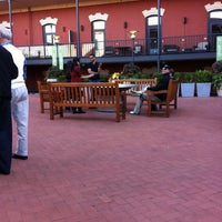Photo taken at Festive Fireplace at Ghirardelli Square by Ken S. on 10/20/2012
