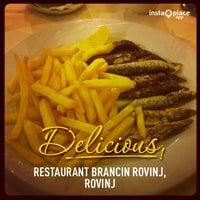 Photo taken at Restaurant Brancin Rovinj by Krunoslav G. on 11/19/2013