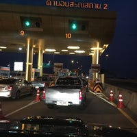 Photo taken at Anusorn Sathan Toll Plaza 1/2 by Deer W. on 2/3/2016