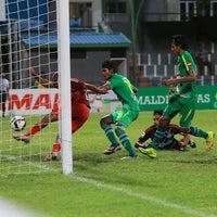 Photo taken at Galolhu National Stadium by Abdulla A. on 7/1/2015