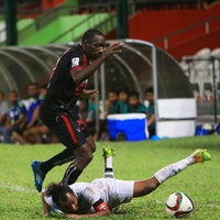 Photo taken at Galolhu National Stadium by Abdulla A. on 6/30/2015