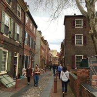 Photo taken at Elfreth's Alley by Jen P. on 2/25/2017