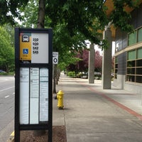 Photo taken at bus stop - redmond library by Ganesh V. on 6/10/2013