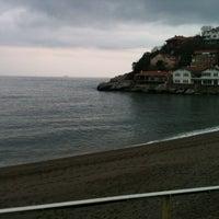 Photo taken at Kapuz Plajı by sercan c. on 1/30/2013