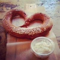 Photo taken at Sigmund Pretzel Shop by Angela C. on 11/9/2012