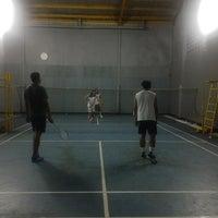 Photo taken at Lapangan Badminton by Tatang M. on 2/23/2015