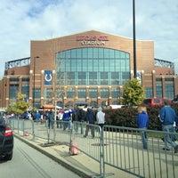 Photo taken at Lucas Oil Stadium by Fernando A. on 11/4/2012