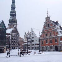 Photo taken at The Town Hall Square by Stepa D. on 12/19/2012