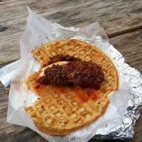 Photo taken at Lucky J's Chicken & Waffles by Cindy F. on 3/15/2013