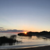 Photo taken at Mangaļsalas Chillspots/Viewplace by Sintija S. on 7/29/2017