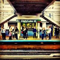 Photo taken at CTA - Clark/Lake by Daniel S. on 9/20/2012