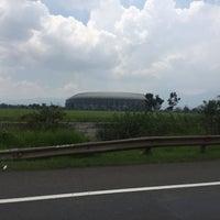 Photo taken at Stadion Gelora Bandung Lautan Api (GBLA) by Rika D. on 3/27/2017