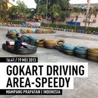 Photo taken at Speedy Karting by Rika D. on 5/19/2013
