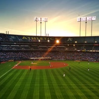 Photo taken at O.co Coliseum by Mathew B. on 5/1/2013