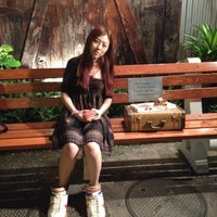Photo taken at Forrest Gump Bench by Junhee S. on 12/11/2013