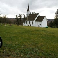 Photo taken at Little White Church on the Hill by Rachel R. on 2/18/2013