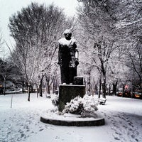 Photo taken at Commonwealth Avenue Mall by Stephen S. on 1/16/2013