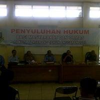 Photo taken at Kantor Kecamatan Cipondoh by Hermansyah S. on 9/17/2013