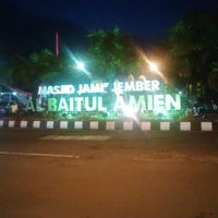 Photo taken at Masjid Jami' Al-Baitul Amien Jember by Sonny D. on 7/14/2016