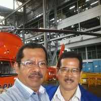 Photo taken at Helicopter Hangar (AI) - PT. DI by Herry H. on 2/22/2017