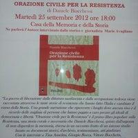 Photo taken at Casa della Memoria e della Storia by Andrea C. on 9/25/2012
