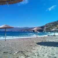 Photo taken at Limnionas Beach by Roula A. on 9/3/2016