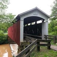 Photo taken at Hara Covered Bridge by Patrick T. on 7/5/2013