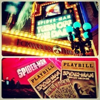 Photo taken at Spider-Man: Turn Off The Dark at the Foxwoods Theatre by Cher C. on 1/18/2013