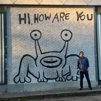 Photo taken at Hi How Are You? Mural by Pat H. on 3/17/2017