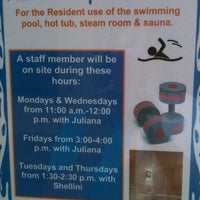 Photo taken at Covenant Village Swimming Pool & Saunas by Catherine M. on 8/3/2013
