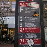 Photo taken at MUNI Bus Stop - Second & Market by Catherine M. on 12/22/2016