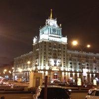 Photo taken at Triumfalnaya Square by Sergey Z. on 11/27/2012