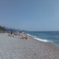Photo taken at Spiaggia Di Fondachello by Steph G. on 8/4/2017