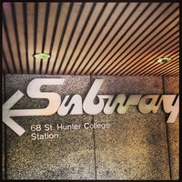 Photo taken at MTA Subway - 68th St/Hunter College (6) by Clay W. on 11/14/2013