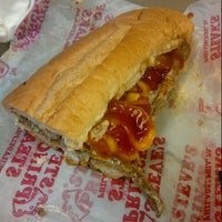 Photo taken at Steve's Prince of Steaks by Miriam F. on 10/25/2012