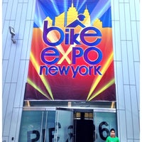 Photo taken at Bike Expo New York- Pier 36 by Omar P. on 5/2/2014