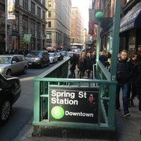 Photo taken at MTA Subway - Spring St (6) by Dan M. on 3/23/2013