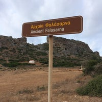Photo taken at Ancient Falasarna by Elena K. on 9/26/2014