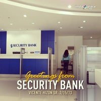 Photo taken at Security Bank by Renz C. on 2/15/2013