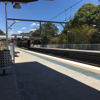 Photo taken at Meadowbank Station (Platform 1) by Alan J F. on 11/18/2016