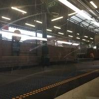Photo taken at Strathfield Station (Platforms 1 & 2) by Alan F. on 3/2/2017