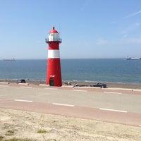 Photo taken at Vuurtoren Noorderhoofd by Frank v. on 7/7/2013